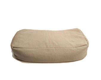 Meditation Cushion Yoga Bolster made with organic hemp and buckwheat hulls- Flax