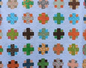 Handmade Cross Plus Modern Quilt