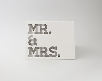 Letterpress Card - Individual Mr. & Mrs. Card