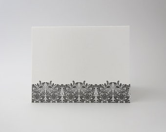 Individual Letterpress Card - Lacy in Charcoal