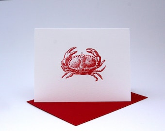 Crabby - Set of Six Letterpress Cards