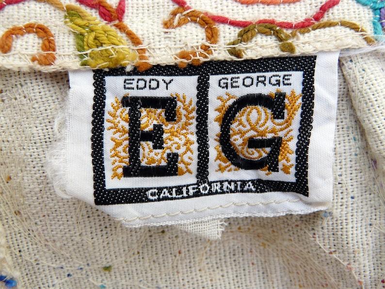 small EDDY GEORGE of California midcentury 1970s paisley skirt multi-colour