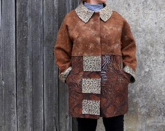 Women alpaca jacket Beige brown felted jacket Felted coat Natural wool coat Alpaca wool coat for women Galafilc