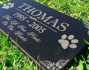 Personalized Dog Memorial  Cat Memorial Granite Stone Pet Grave Marker Engraved In Memory of Headstone Custom Engraved Garden Memorial Stone