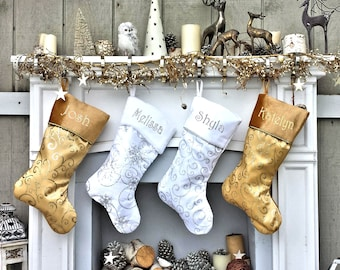 4b736591bba93 Personalized Christmas Stockings Velvet 19 Luxury Faux | Etsy