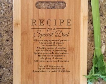 father dad gifts personalized recipe for a special dad custom cutting board personalized christmas gift for daddy father papa from son kids