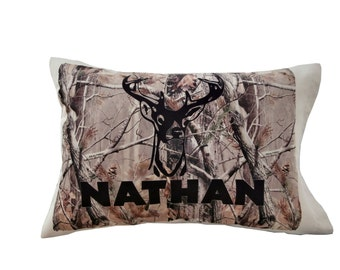 Personalized Camo Boys Pillowcase Birthday Or Christmas Gift Idea For Boys  Kids Room Decor For Hunters Camouflage Decor Bedroom Deer Buck