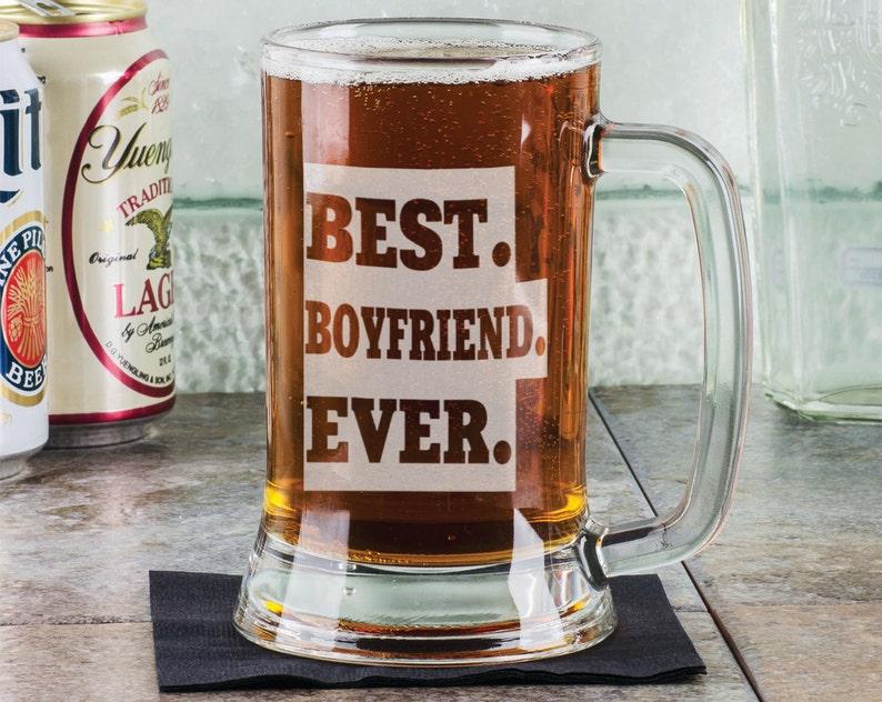 Best Boyfriend 16 Oz Beer Mug Engraved Gift Personalized
