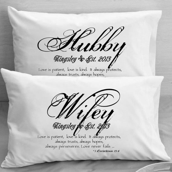 1 corinthians 13 love bible verse pillow cases mr mrs wife etsy