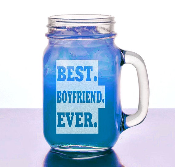 Best Boyfriend Ever Valentine S Gift Idea Mason Jar Mug Etsy