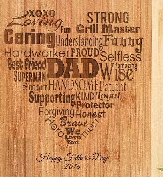 Personalized Dad Fathers Day Recipe Engraved Cutting Board