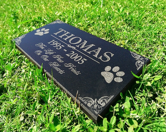 personalized dog memorial cat memorial granite stone pet etsy