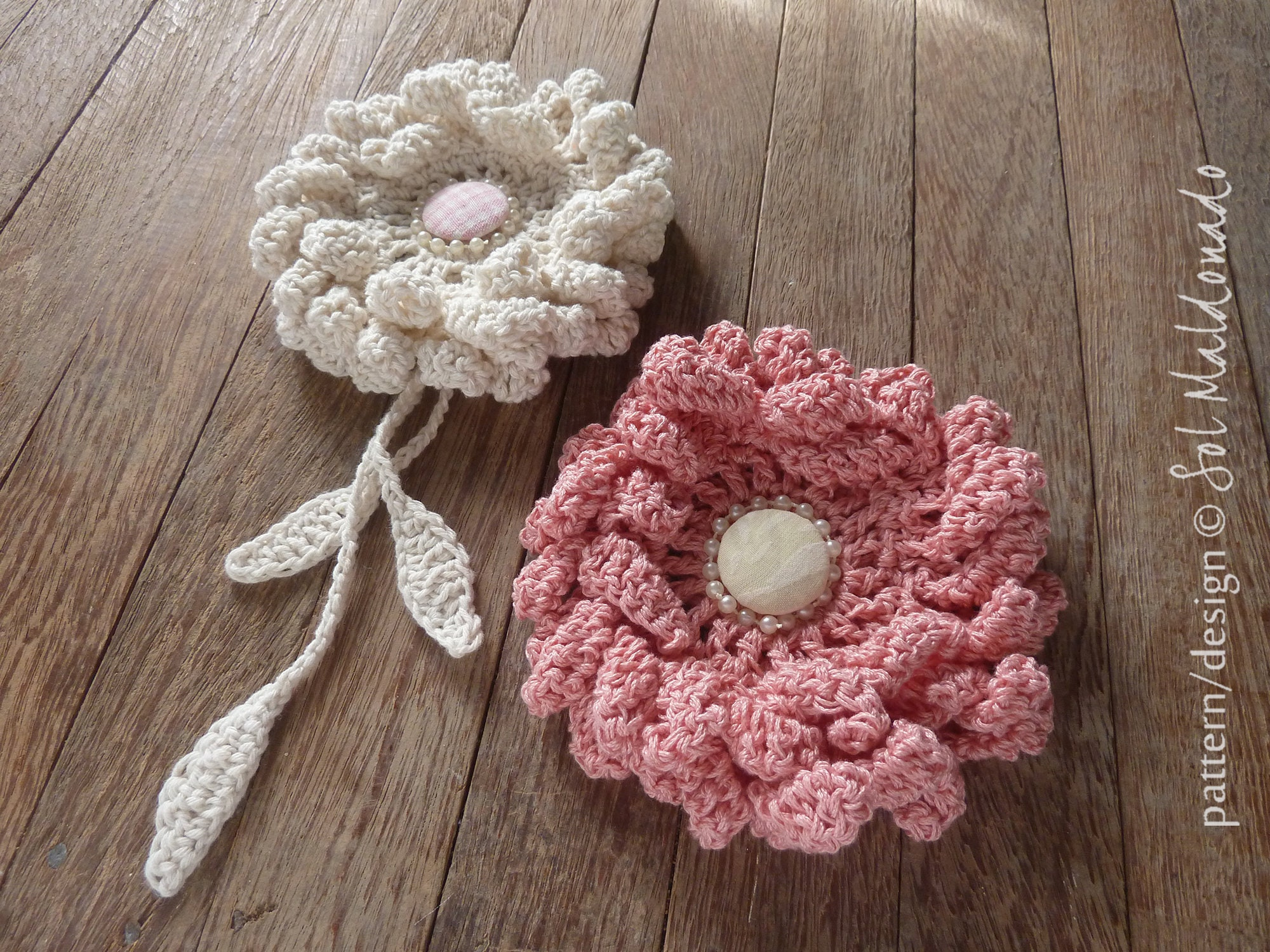 Flower Crochet Pattern Peony Easy Beginner Crochet Tutorial Etsy