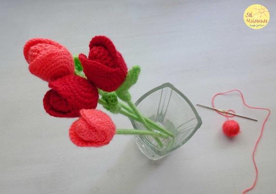 10 x DIY Hand Knitted Crochet Strawberry Embellishmen R