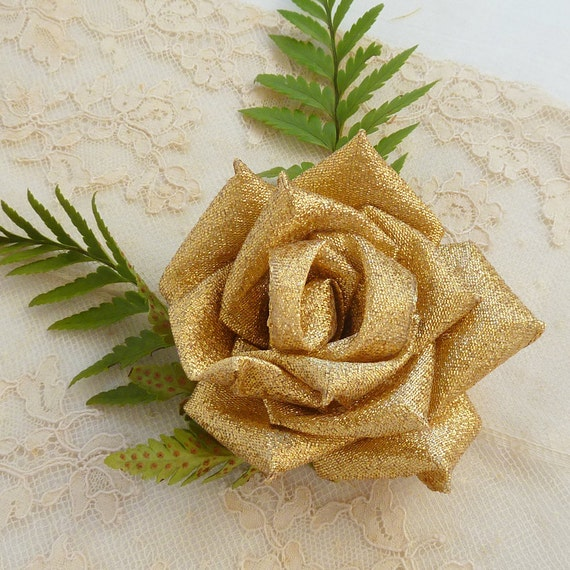 Fabric flowers pattern & ribbon flower tutorial  True Love Rose, N0 Sew at all - Instant Download