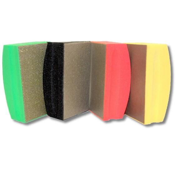 KENT 4 Assorted COARSE Grits Premium Diamond Hand Polishing Pads
