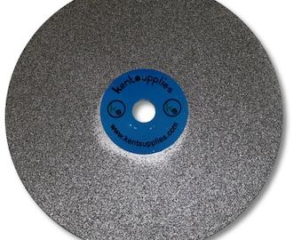 KENT 6 inch Diameter Electroplated Diamond Coated Flat Lap Disc Lapidary Grinding Polishing Disc, GLS-475-P