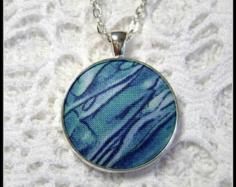 Wearable Art - Fiber Art - Fabric Pendant - Artsy Jewelry - Fiber Art - FP33