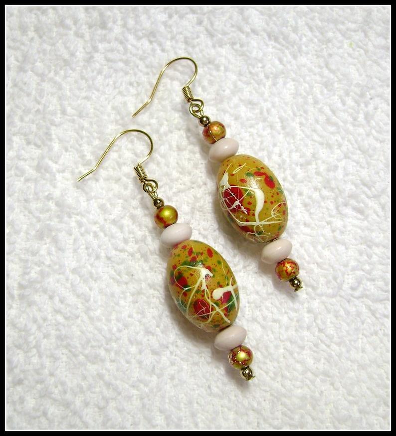 Artsy Drop Earrings E-227 Artsy Earrings Jewelry