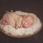 PDF Knitting Pattern - Knit Newborn Dress Pattern - Newborn Photography Prop Pattern