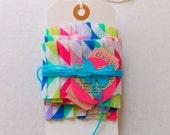 Ruffled Crepe Paper Garland / Chevron Stripes / Party Decor
