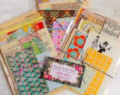 Mini Paper Pack / Vintage & New / 20 Pieces / Inspiration Kit / Vintage Ephemera / Paper Ephemera / Planner Supply
