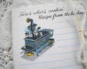 Charming Set of Vintage Recipe Cards - Antique Cast Iron Kitchen Stove