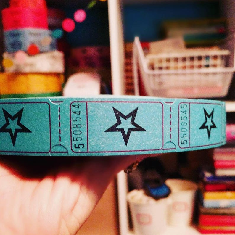 Blue Star Raffle Tickets / Carnival Tickets / 18 Tickets / Tags