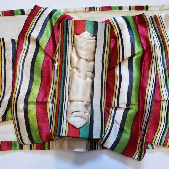Late 1930s striped Silk Belt / 27 - 29 waist / 30… - image 3