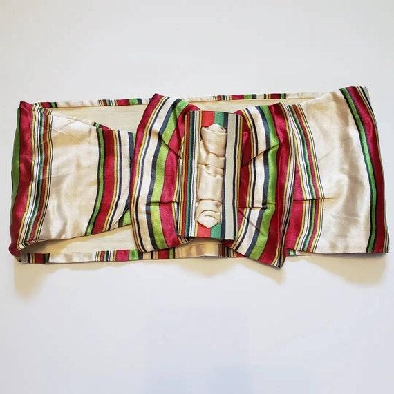 Late 1930s striped Silk Belt / 27 - 29 waist / 30… - image 2