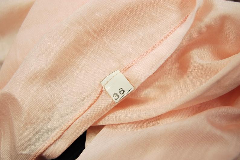 1920s Silk Slip  size 36  Light pink Silk 20s Chemise Flapper Boudoir
