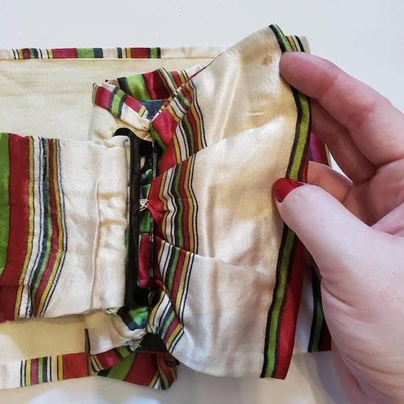 Late 1930s striped Silk Belt / 27 - 29 waist / 30… - image 5