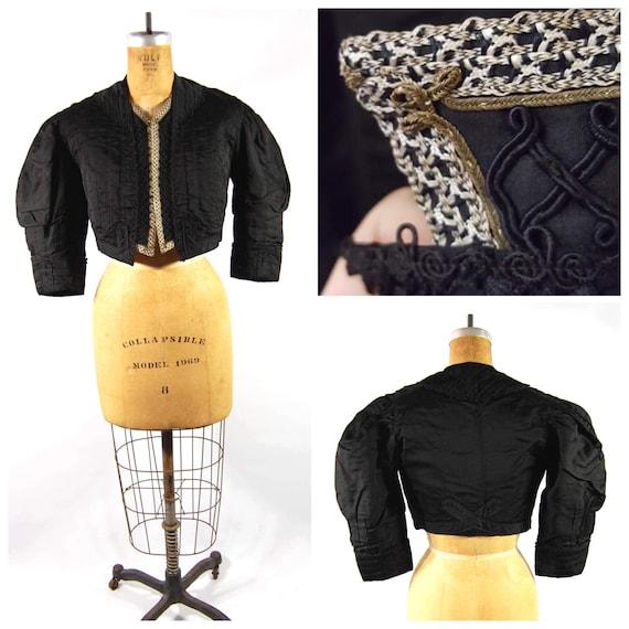 True Victorian Jacket - 1880s 1890s Gothic Black S