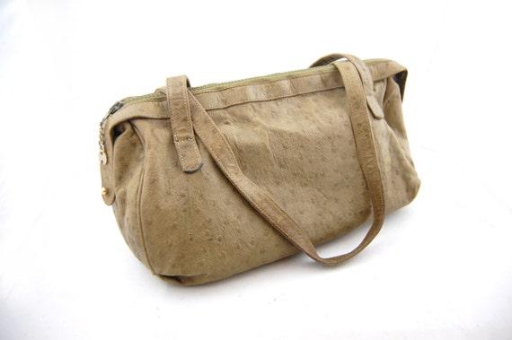 Vintage Halston Ostrich Leather Handbag - 1970s Ha