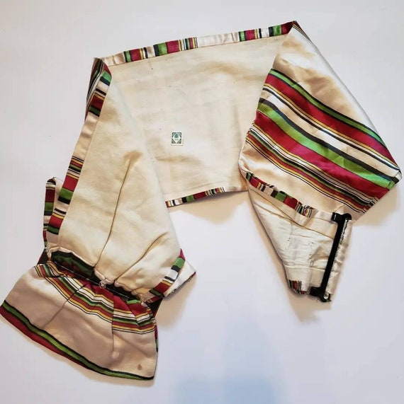 Late 1930s striped Silk Belt / 27 - 29 waist / 30… - image 6