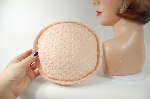 1950s Pink Hat / Face Framing Small Brimmed Hat P… - image 2
