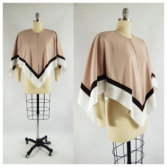 70s Lightweight Poncho Capelet / Small - Med / 70s