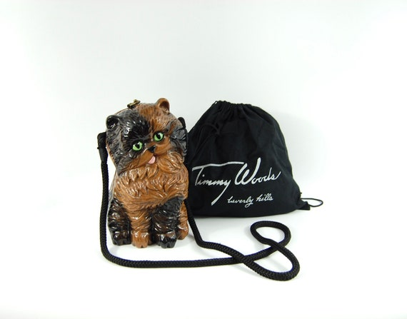 Limited Edition Timmy Woods Kitty Purse / Hand Pai