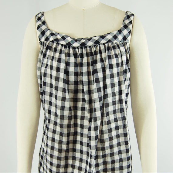 40s 50s Checkered Gingham Skirt and Top Set / 23 … - image 2
