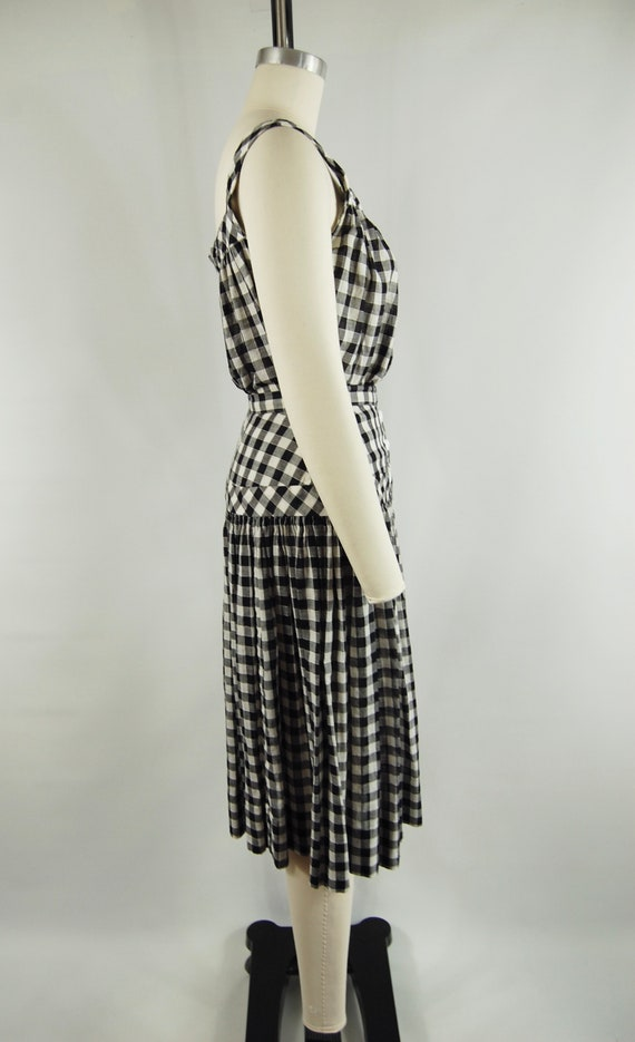 40s 50s Checkered Gingham Skirt and Top Set / 23 … - image 5