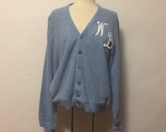 Vintage embroidered cardigan sz m