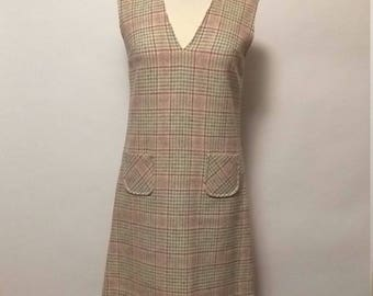 Vintage Paddle & Saddle Wool Dress