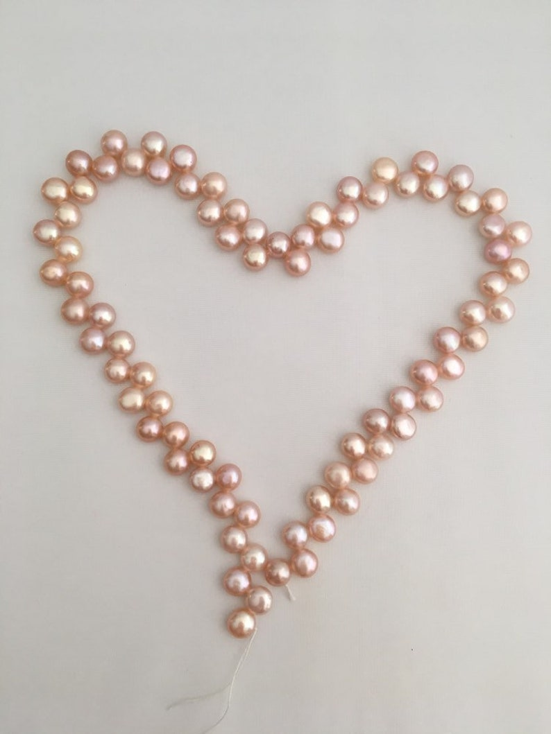 """A string 16/"""" shell nuggets light pink 8mm beads"""