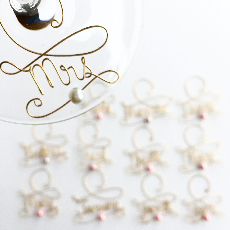 Wine Charms, Personalized Wine Glass Charms - Wedding Favor Wine ...