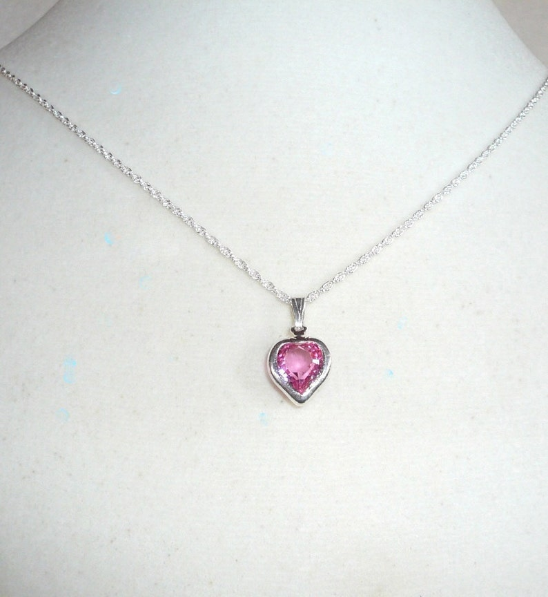 dfb619b6b87c October Birthstone Necklace pink Swarovski crystal