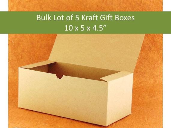 5 Brown Kraft Gift Boxes Kraft Wine Glass Box Brown Stemware Box Bridesmaids Gift Box For Wine Glasses Natural Boxes Groomsmens Gift Boxes