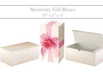 Wine Glass Gift Box - Champagne Glass Box, Wine Glasses Gift Box, Wine Glass Favor Box for Wine Glasses, Wine Glass Box White