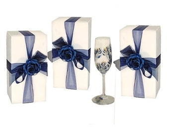 25 Stemware Boxes - Wine Glass Gift Boxes, White Flute Boxes, Bulk Lot Gift Boxes, 25 Bachelorette Boxes, DIY Party Favor Box Beer Glass Box
