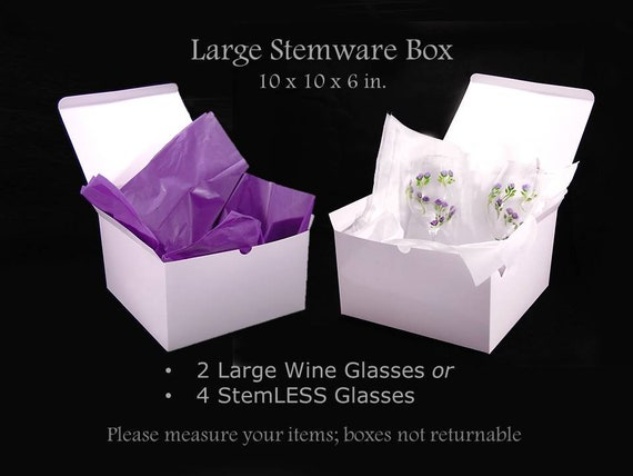 Large Stemless Wine Glass Gift Box with