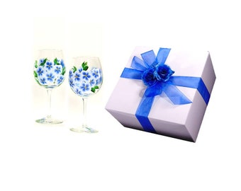 Extra Large Gift Boxes, Pack of 5, Boxes for Glassware, Option to Add Ribbon - Fits Champagne Flutes, Wine Glasses, XL Stemware Gift Box